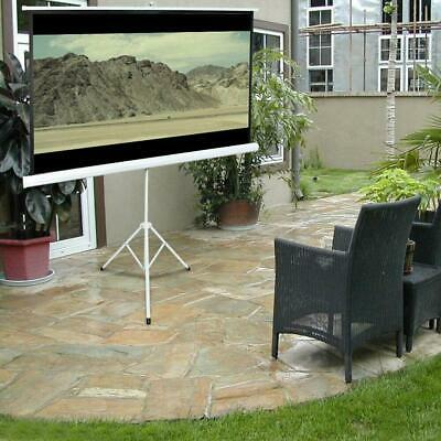 84 Tripod Portable Projector Projection Screen 169 Foldable Stand Home Theatre