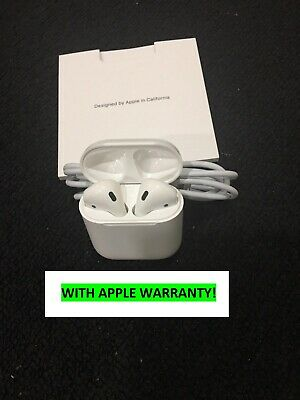 NEW Apple AirPods 2nd Gen w Wired Charging Case Latest - White -APPLE WARRANTY