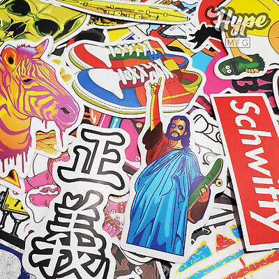 100 Sticker Pack Supreme Bape Hypebeast Laptop Skateboard Stickers