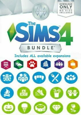 THE SIMS 4 - ALL expansions  10- DLC  PC - MAC  Great BANDLE