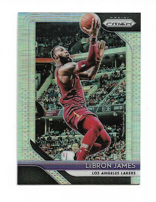 2018-19 Prizm SILVER SP REFRACTOR HOLO LEBRON JAMES LBJ THE KING LAKERS