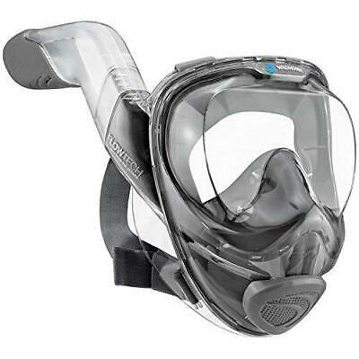 WildHorn Outfitters Seaview 180° V2 Full Face Snorkel Mask - Stealth Small