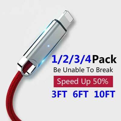 For iPhone 11 11Pro XR Xs 8 7 6 Plus Led Indicator Cable for iPhone Charger Cord