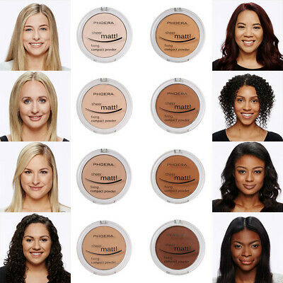 PHOERA Pressed Face Powder Concealer Matte Pearl Finishing Compact Foundation