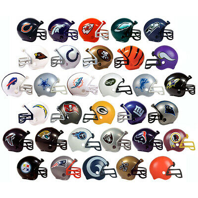 NFL COLLECTIBLE MINI FOOTBALL HELMET COMPLETE SET 32 TEAMS 2 GUMBALL HEADS NEW