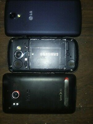 Lot Of 3 Smart Phones HTC LG Samsung
