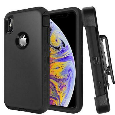 For Apple iPhone X XR Xs Max Case with Belt Clip  Fits Otterbox DEFENDER SERIES