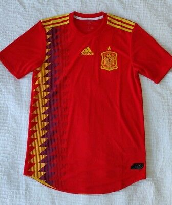 NWT Mens Adidas Spain Home 2018 World Cup Soccer Jersey ClimaChill Size Medium