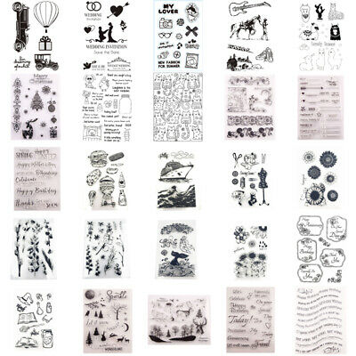 Silicone Clear Stamps Rubber Stamp Embossing Stencil Xmas Scrapbook Album Craft