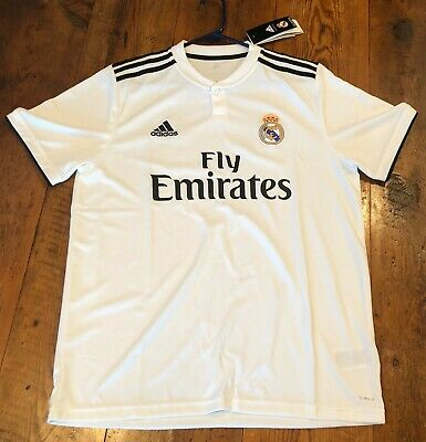 Real Madrid Adidas Home Soccer Jersey Mens Large NWT