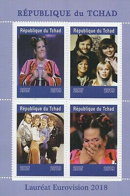 2018 EUROVISION SONG CONTEST ABBA 2019 MNH STAMP SHEETLET