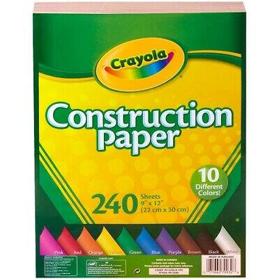 Crayola Construction Paper 240 Count Assorted Colors