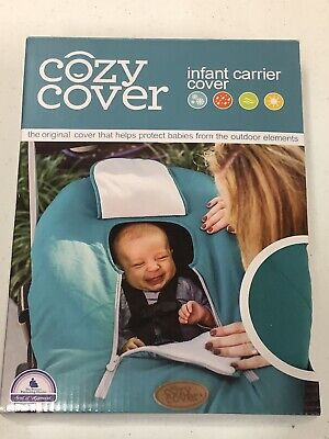 Cozy Cover Infant Carrier Cover - Secure Baby Car Seat Cover - Teal- NEW