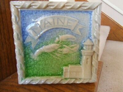 SALMON FALLS STONEWARE SEA GLASS  MAINE LOBSTER LIGHTHOUSE 2013 FREE SHIP