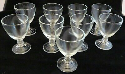 Depression Glass Depression Glass Manhattan look-alike SET of 9 WINE or CORDIALS