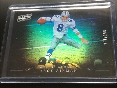 TROY AIKMAN 2018 Panini Black Friday 199 Dallas Cowboys