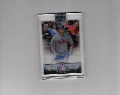 2018 Topps Clearly Authentic Hunter Renfroe Mothers Day Auto Encased G2