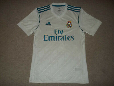 NWOT Cristiano Ronaldo Real Madrid adidas Climacool White 7 Small Adult Jersey