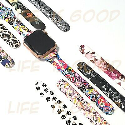 Soft Silicone Multicolor Band Compatible Apple Watch Series 6 5 4 3 2 1