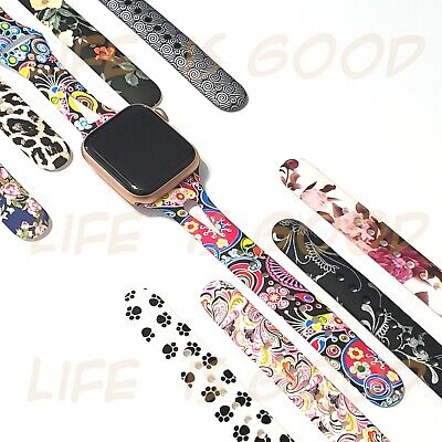 Soft Silicone Multicolor Band Compatible with Apple Watch Series 5 4 3 2 1