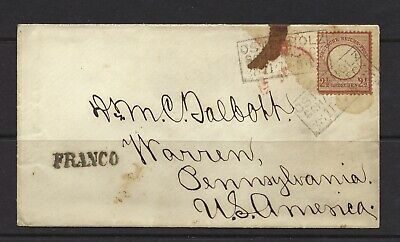 Germany SC 19 on cover cancelled 30 Nov 1873 Lot 20-83