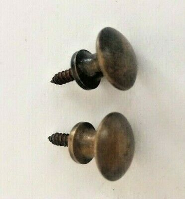 2 Solid Brass Stacking Barrister Bookcase 58 Round Knobs or Drawer Pulls- Desk