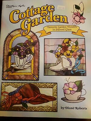 COTTAGE GARDEN Stained Glass Pattern Book Victorian OOP