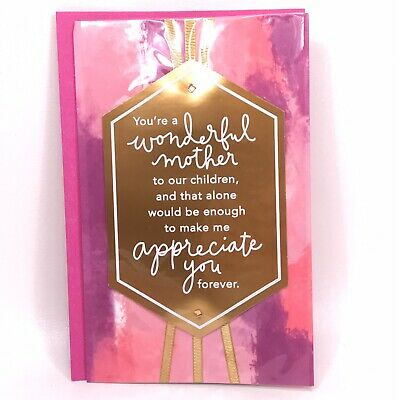 American Greetings Mother's Day To Wife From Husband Pink Greeting Card