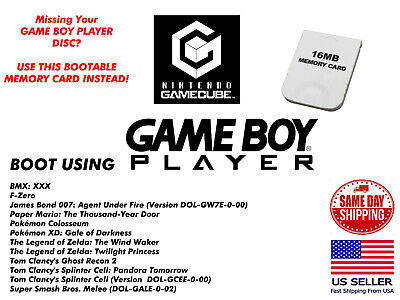 Game Boy Player GameCube Memory Card Disc Replacement