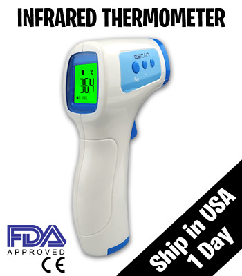 Medical NON-CONTACT Body Forehead IR Infrared Digital Thermometer Adult Baby