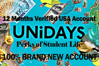 Unidays Student Discounts 12 Months Verified US Account Fast Delivery