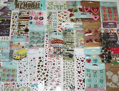 HUGE LOT 25 Packages Scrapbooking Stickers Jolees Boutique Momenta Sticko -