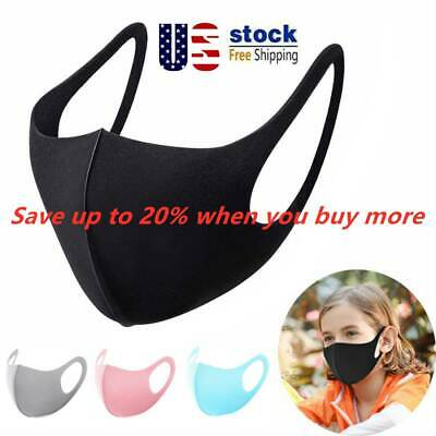 10 x Unisex Adults Kids Washable Reusable Anti-Dust Anti-Cold Face Cover