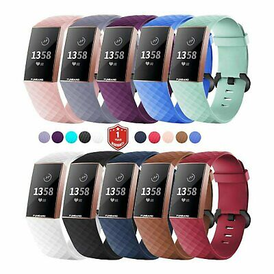For OEM Fitbit Charge 3 Replacement Wrist Band Silicone Bracelet Watch Rate Fit