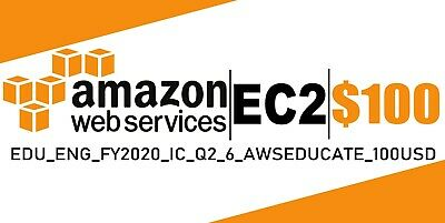 AWS 100 Amazon Web Services VPS Promocode Credit Code Lightsail EC2 IC-Q2-6
