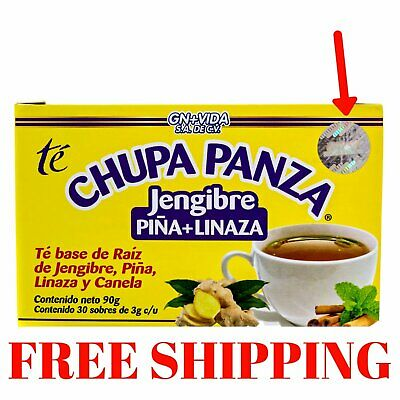 TEA CHUPA PANZA Jengibre Pina Linaza Te Ginger Cinnamon Pineapple 30 Day
