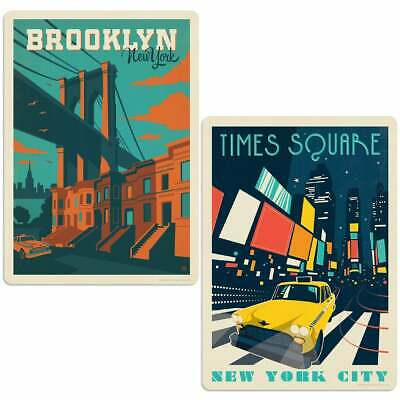 New York City Time Square Brooklyn Sticker Set of 2 State Pride
