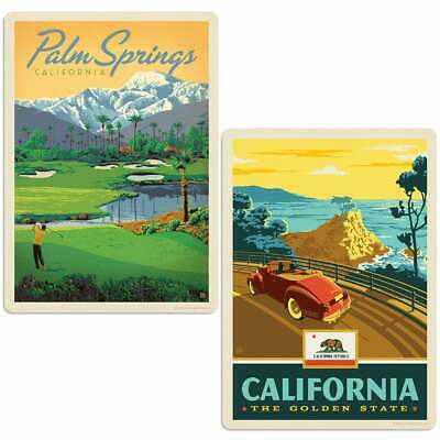 Palm Springs California Golf Sticker Set of 2 Vintage-Style Decals