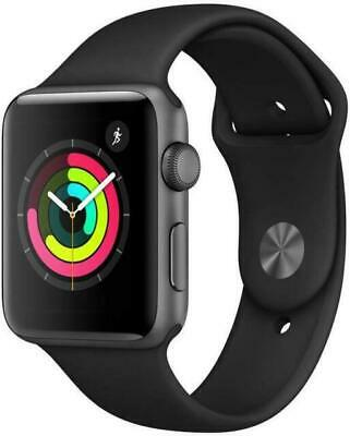 Apple Watch Series 3 GPS 42mm Space Gray with Black Sport Band MTF32LLA