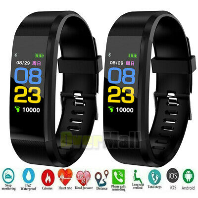 Smart Watch BT Waterproof Heart Rate Fitness Step Caolorie Tracker Monitor