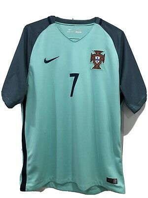 Nike Portugal Jersery 7 Ronaldo Green 2016 World Cup