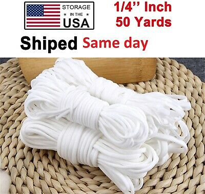 50 YARDS ELASTIC BAND CORD DIY CRAFTS SEWING FOR  FACE MASK