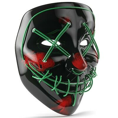 Halloween Costume Purge LED Mask - Rave Cosplay Party