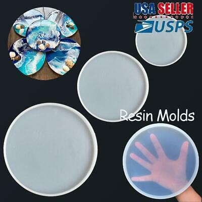 Transparent Fluid Arts Round Coaster Resin Casting Molds Silicone Epoxy Molds