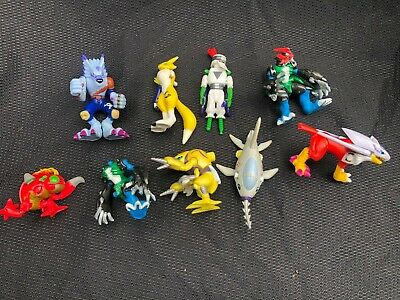 Bandai Digimon Action Feature Figure Lot of 9 Figures for Parts