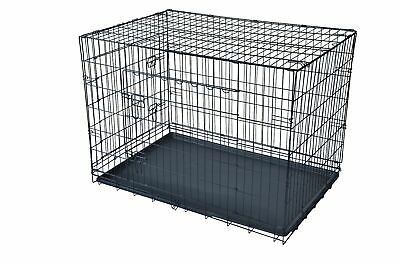 Black 482 Door Pet Cage Folding DogDivider Cat Crate Cage KennelTray LC