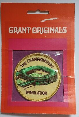 Vintage Wimbledon The Championship Round 2 34 Sew On Tennis Patch Old Stock