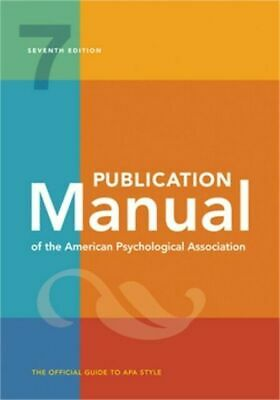 Publication Manual of the American Psychological Association 7th Edition P-D-F-