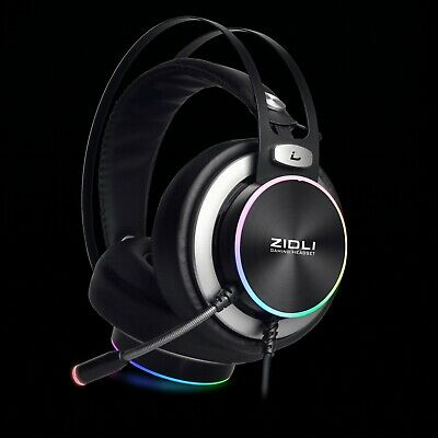 ZIDLI Pro Gaming Headset With Rainbow Lights For PS4XboxPCNintendo Switch