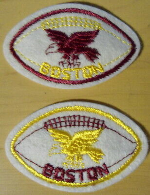 BOSTON  COLLEGE  EAGLES  FOOTBALL  2  SMALL  VINTAGE  PATCHES